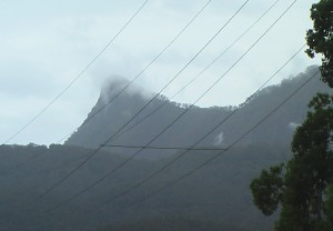 Mt Warning thru power lines