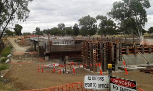 New bridge on the Maranoa River