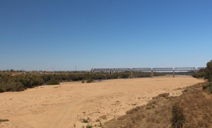Railway bridge over the Burdekin River near Charters Towers