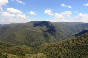 View over the mountains from Devils Hole Lookout