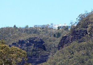 The Hydro Majestic Hotel at Medlow Bath from the Megalong Valley.