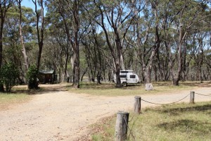 The caravan belongs to the sole residents of Polblue camping area