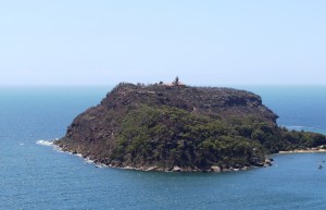 Barrenjoey Head at the mouth of the Hawkesbury River.