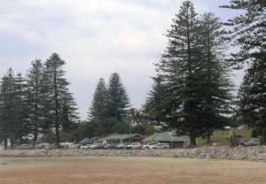 The day area at Brooms head beach