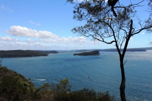 The mouth of the Hawkesbury River.