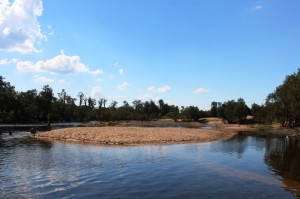Sand banks in the Upper Clarence