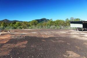 Old copper smelter paved area