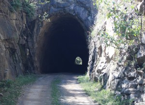 South entrance - Boolboonda tunnel - with light at the end