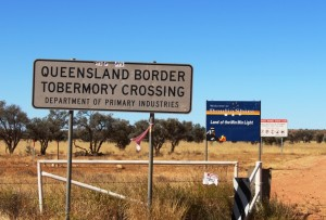 The Qld/NT border