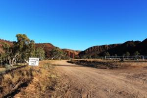 The Binns Track south towards D'Halia Gorge.
