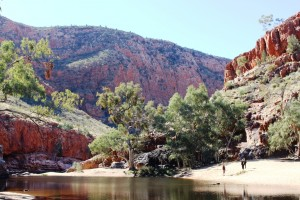 The waters of Ormiston Gorge