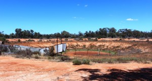 Ferrell goat trap on Mungo Station