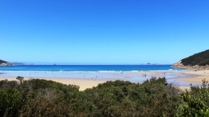 Norman Beach and the mouth of Tidal River.