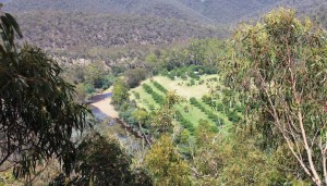 Farm lands along the Wonnangatta River.