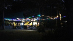 Night view of Punsand Bay restaurant