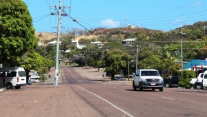 Part of the main street of Thursday Island