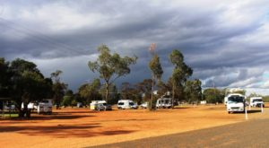 Vans in the Dauringa camping area