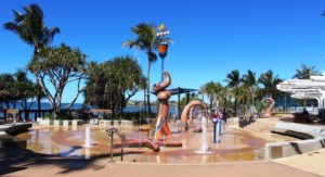 The wet play area at Yeppoon