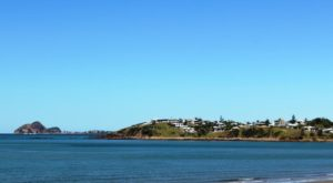 View south from Yeppoon. Rosslyn Bay is on the left