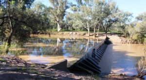 Weir on the Barcoo at Isisford
