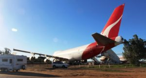 A jumbo jet at the Qantas Founders Museum