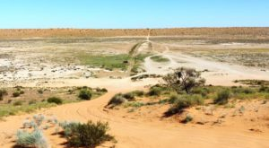 The track down the western face of Big Red and into the Simpson Desert