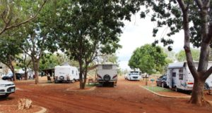 Caravan parking layout at Barkly Homestead
