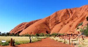 The start of the walking track around the base of Uluru