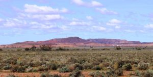 The Iron Knob mine, viewed from the Iron Knob Kingoonya Road