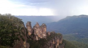 Three Sisters and storms
