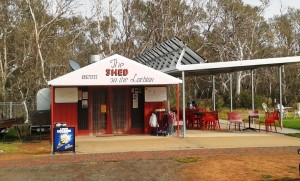 The Shed on the Lachlan. The coffee shop at Hillston.