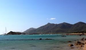 Boats at cnchor off Montes Resort