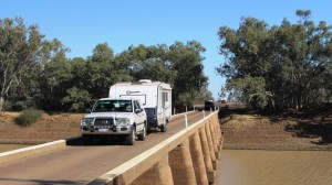 The Cooper bridge. Some vans were heading east