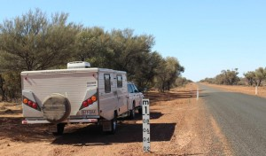 Morning tea in a dry floodway