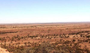 Pastures toward Winton viewed from the dinosaur centre