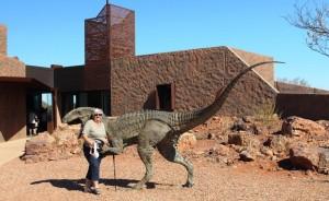 Ruth meets a dinosaur