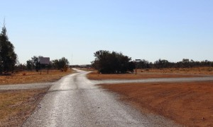 The road out of Windorah to Birdsville. There is 388 Km of it.