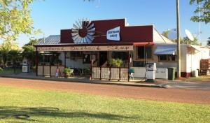 Windorah shop with fuel pumps