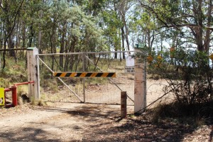 The Dingo Gate after being closed