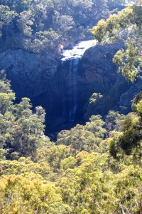 Lower falls at Ebor. Please excuse the reflection.