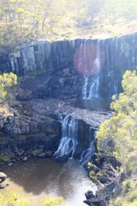 Upper Falls at Ebor Falls. Still some water in the Guy Fawkes River