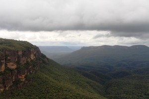 Jamison Valley and Clouds.