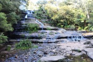 The main fall at Katoomba Falls.