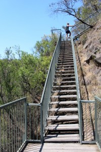 This is part of the 106 steps to the mid-level viewing platform.