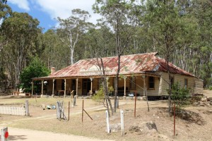 The long since unlicensed Newnes Hotel, now a museum and kiosk.