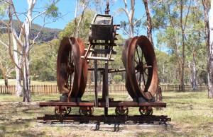 Shale mining memorabilia.