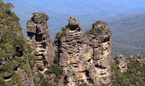 Classic view of the Three Sisters.