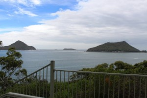 Entrance to Port Stephens from the lookout at the old lighthouse