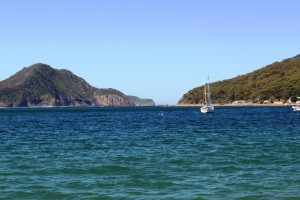 The entrance from Shoal Bay beach.