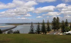 Harrington town and lagoon